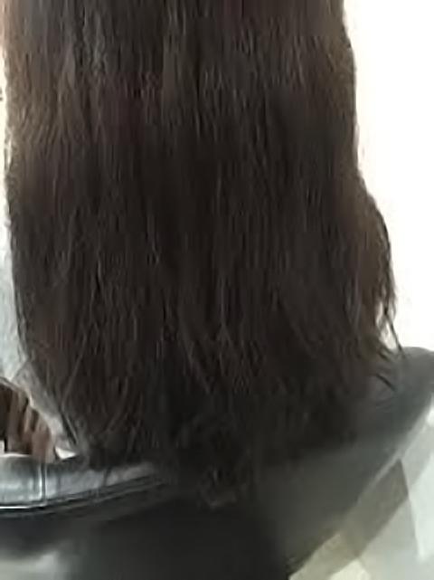 乾燥しやすい髪後ろ全体