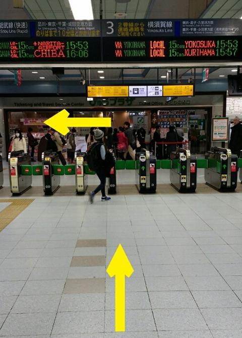 武蔵小杉駅、JR南武線ルート.1