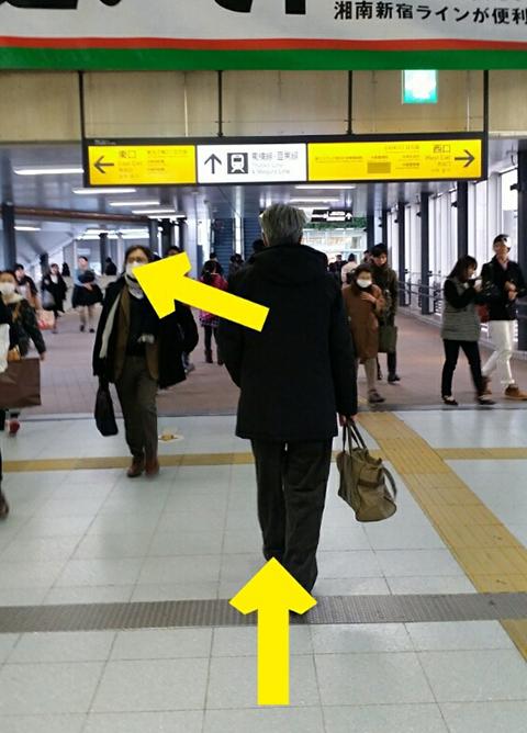 武蔵小杉駅、JR南武線ルート.2