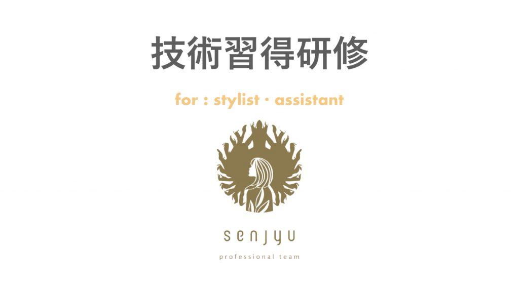 【美容師さんへ】senjyuプロフェッショナルチーム、遂に⭐︎技術習得研修⭐︎始めます!!!